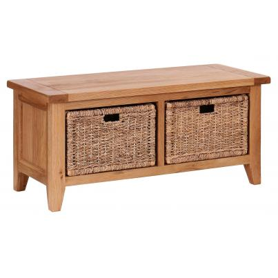 Storage Bench with 2 Basket Drawers