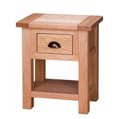 Side Table with 1 Drawer & Shelf