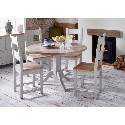 Grey Dining Set 1Table with 4 Chairs