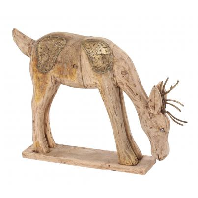 Eating Wooden Deer Ornament