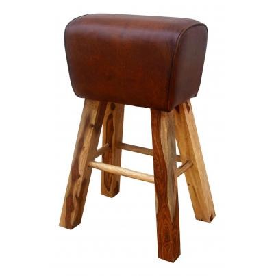 Leather Pommel Horse Style Stool