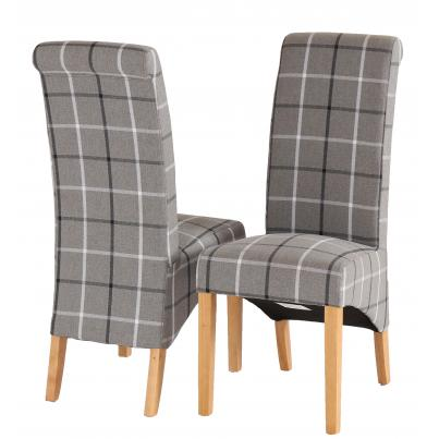 Pack of 2 - Mull Granite Fabric Dining Chair