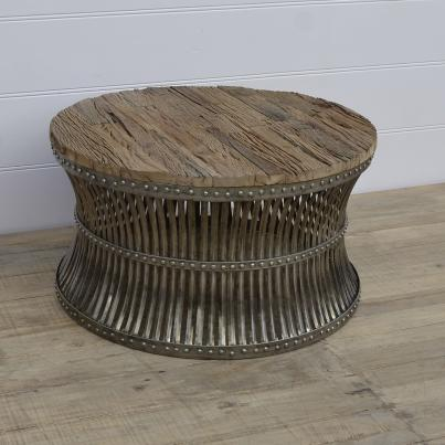 Wooden Top and Metal Coffee Table