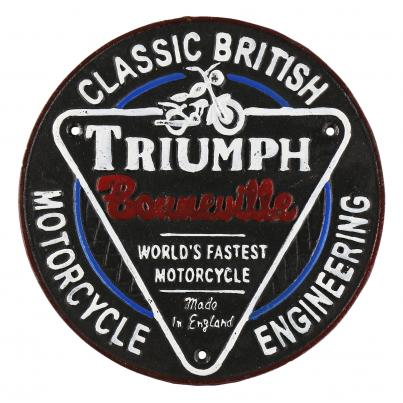 Triumph Motorcycle Wall Plaque Round