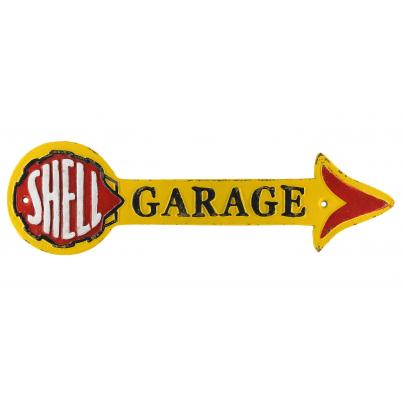 Shell Garage Wall Plaque Arrow