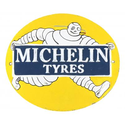 Michelin Oval Wall Plaque