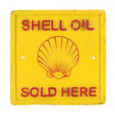 Shell Oil Sold Here Wall Plaque Square
