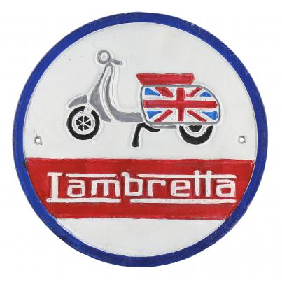Lambretta Scooter Wall Plaque