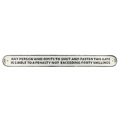 Any Person Warning Wall Plaque Long