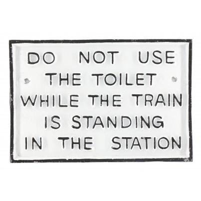 Do Not use Toilet Sign