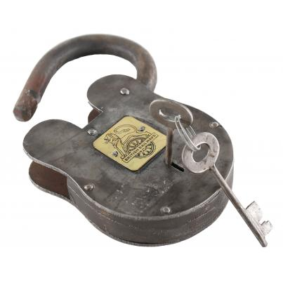 Antique Padlock with British Railway Badge