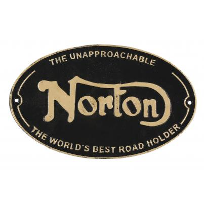 Norton Machines Wall Plaque Oval