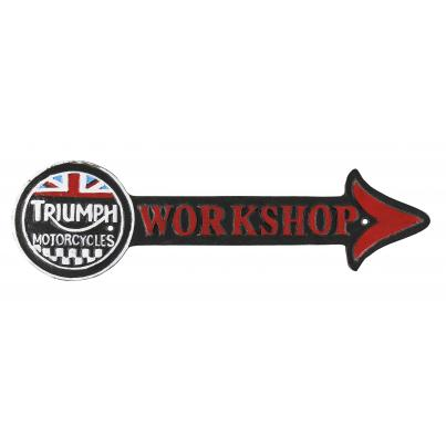 Triumph Workshop Plaque Arrow