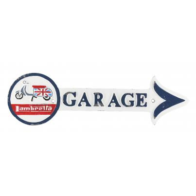 Lambretta Garage Plaque Arrow