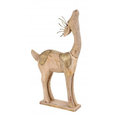 Standing Wooden Deer Ornament
