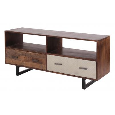 2 Drawer TV Unit Reclaimed Wood