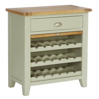 2 Drawer Wine Rack with Pull Out Shelf