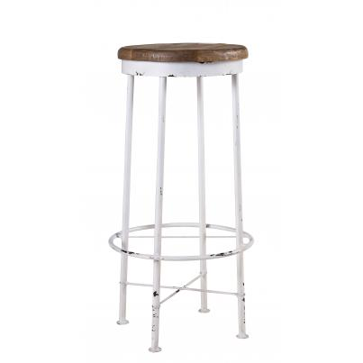 Metal Bar Stool with Foot Rest