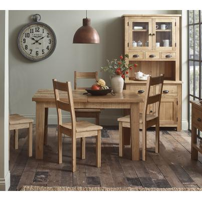 Dining Set - 1 Table with 4 Timber Seat Dining Chairs (GAC020 & GAC018)