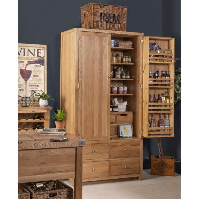 2 Door 10 Drawer Larder Cabinet with soft close drawers