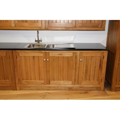 Sink Unit with 3 Doors & 2 Removable Shelves