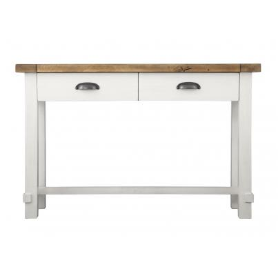 Industrial Oak 2 Drawer Console Table