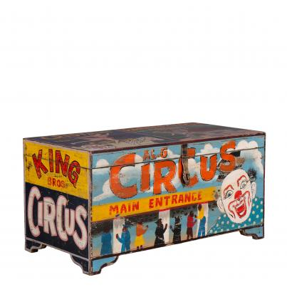 Hand Painted Vintage Circus Storage Chest