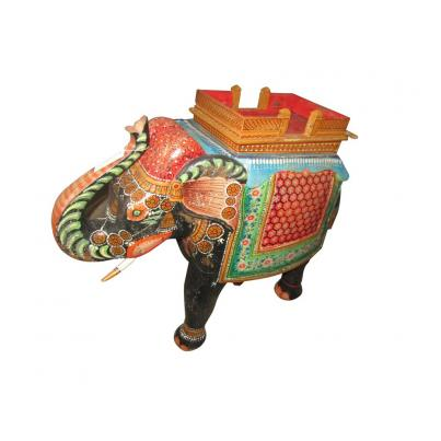Hand Carved Elephant Statue