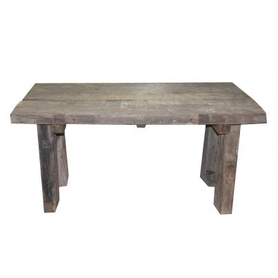 Reclaimed Teak Rustic Plank Dining Table 150cm