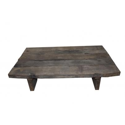 Reclaimed Teak Rustic Plank Coffee Table 120cm