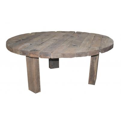 Reclaimed Teak Rustic Plank Round Table 180cm