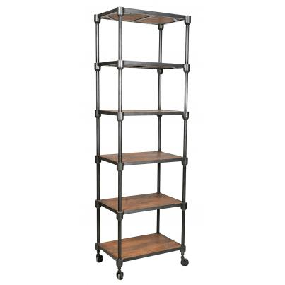 Iron and Reclaimed Timber Shelving Unit
