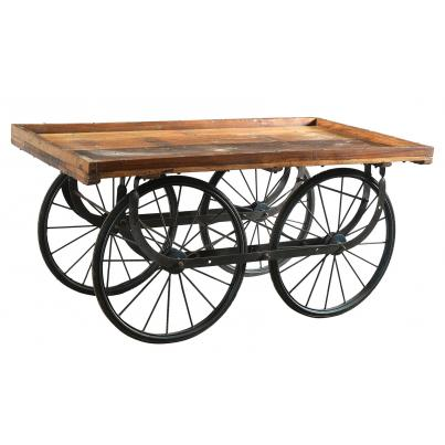 Antique Iron Display Cart with Wheels