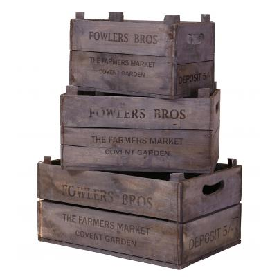 Set of 3 Apple Boxes - Fowlers Bros