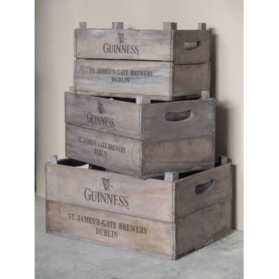 Set of 3 Apple Boxes - Guinness with Harp Logo