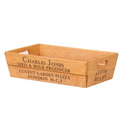 Large Vintage Style Wooden Flower Box - Charles Jones