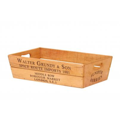 Large Vintage Style Wooden Flower Box - Walter Grundy & Son