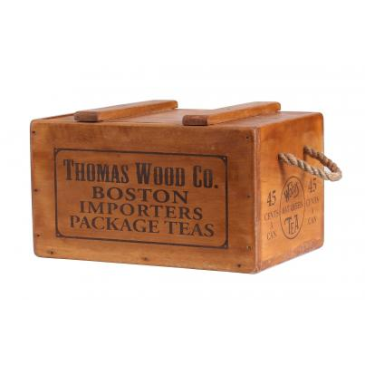 Rustic Vintage Wooden Lidded Chest Box - Thomas Wood Co