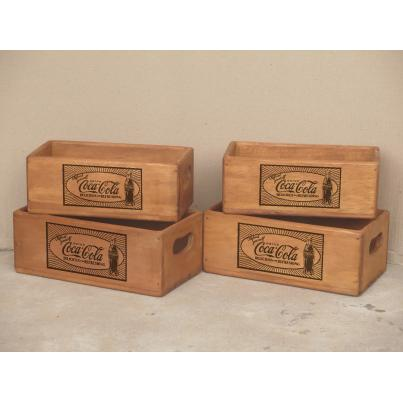 Set of 4 Rectangular Boxes - Coca Cola Refresh Yourself