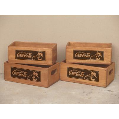 Set of 4 Rectangular Boxes - Drink Coca Cola
