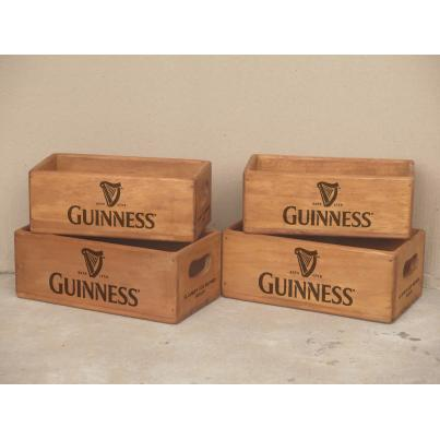 Set of 4 Rectangular Boxes - Guinness with Harp Logo