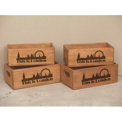 Set of 4 Rectangular Boxes - This is London