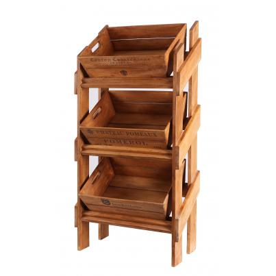Vegetable Display Rack with 3 Trays - Appellation/Chateau Pomeaux/Smith Havt Lafittv