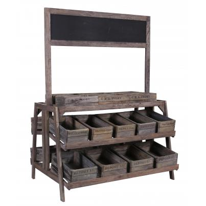 5 Tier 24 Crate Display with Chalk Board K/D