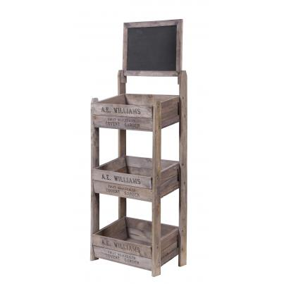 3 Tier Crate Display with Chalk Board K/D