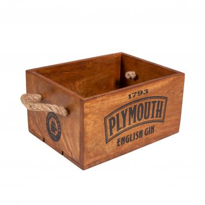 Plymouth Gin Crate with Rope Handle for 4 Bottles