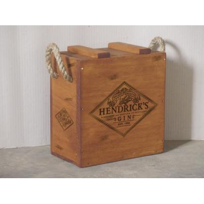 Hendrick's Gin Crate with Rope Handle for 2 Bottles