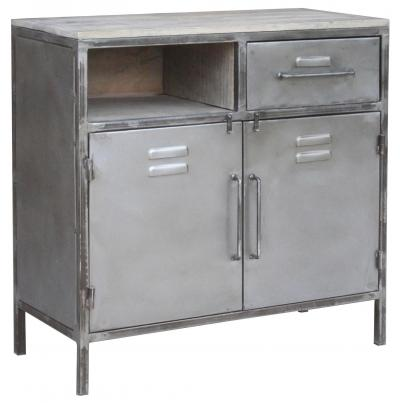 2 Drawer 2 Door Cabinet with Open Shelf