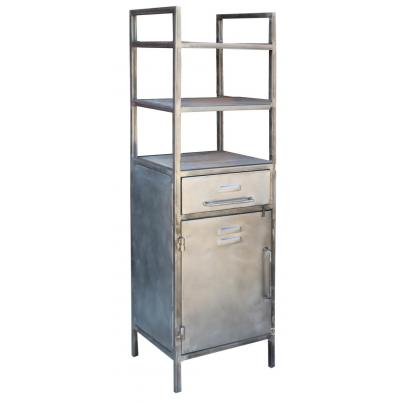 Open Shelving Unit with 1 Drawer & 1 Door