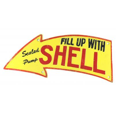Shell Arrow Fill up Sign